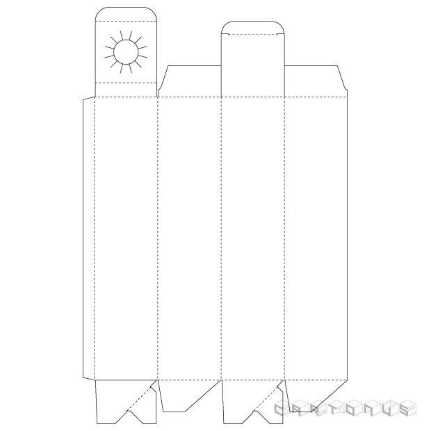 Bottle carton 67x67x300