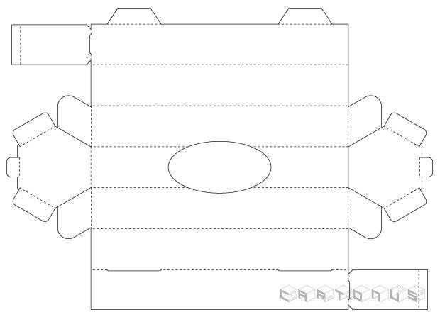 Hexagonal carton 38x238