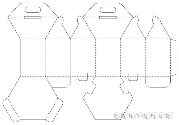 Hexagonal carton 40x60