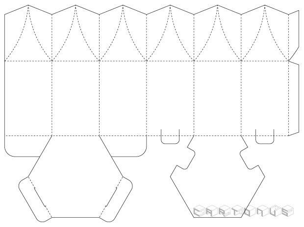 Hexagonal carton 60x100