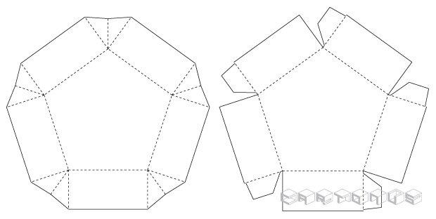 Pentagonal carton 75x37