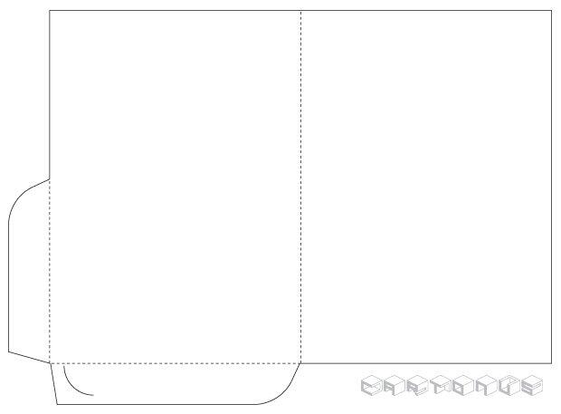 Pocket folder 152x214