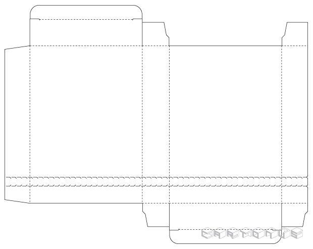 Rectangular carton 125x30x175