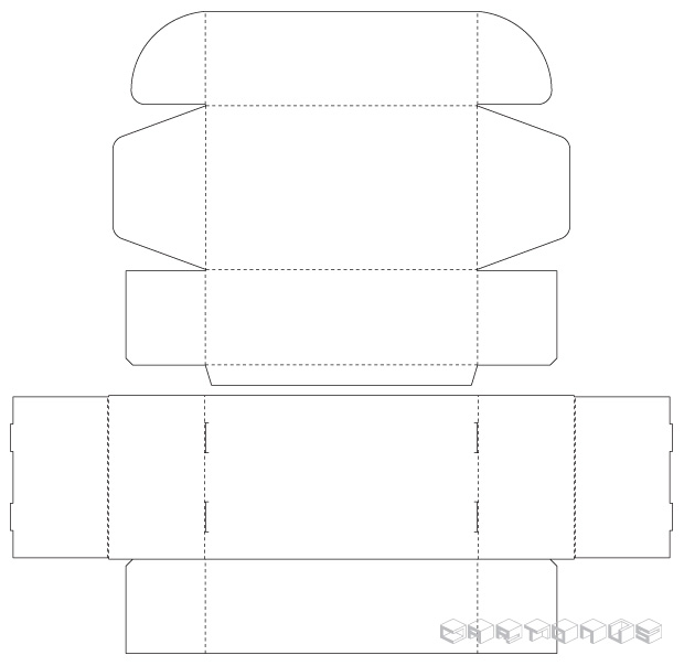 Tray and lid 200x120x70