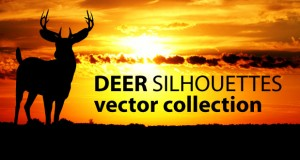 cartonus-deer-silhouettes-vector-collection-f
