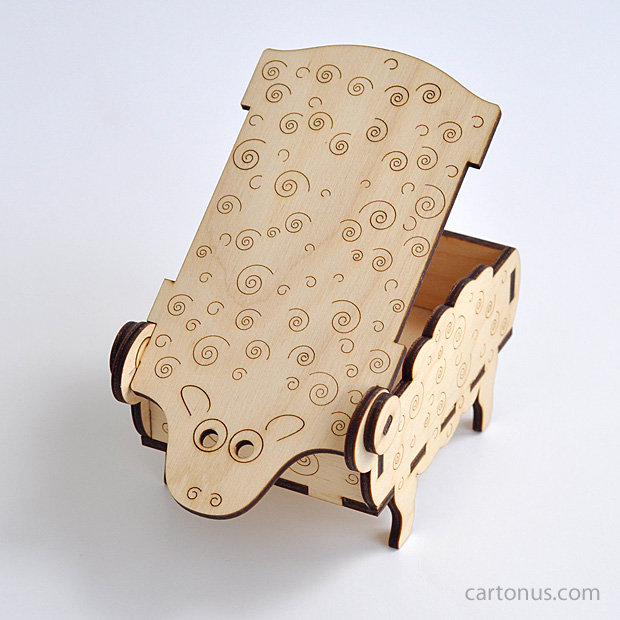 Sheep box cartonus for Laser cut wood box template