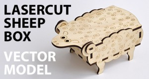 Sheep-box. Lasercut vector model
