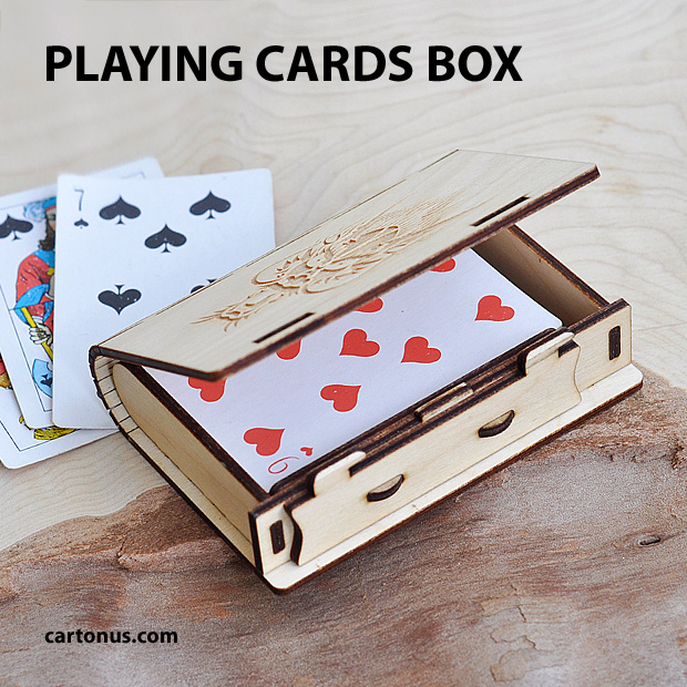 playing cards wooden box