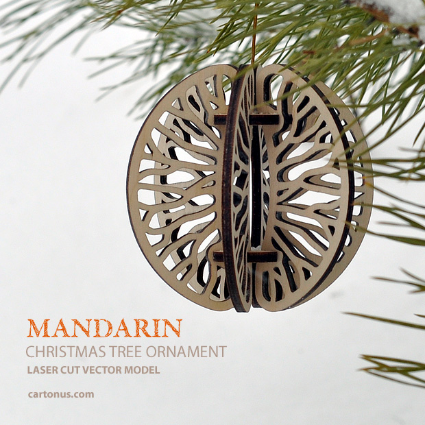Download FREE Christmas tree ornament - Mandarin