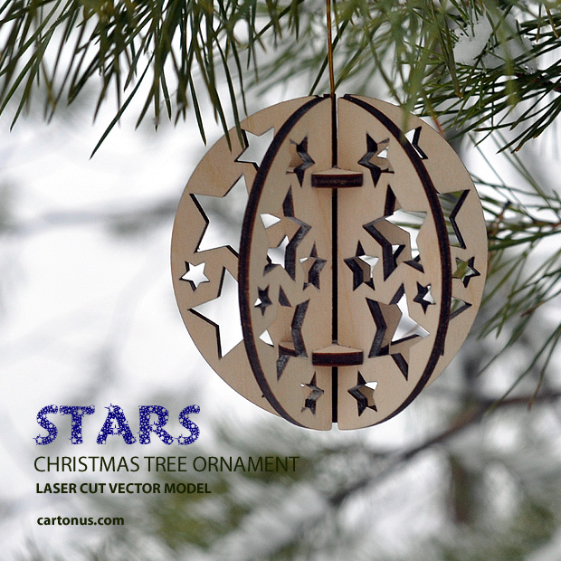 Download FREE Christmas tree ornament - Stars