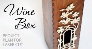 wine box project plan for laser cutting