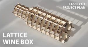 Wine box lattice. Lasercut vector model / project plan