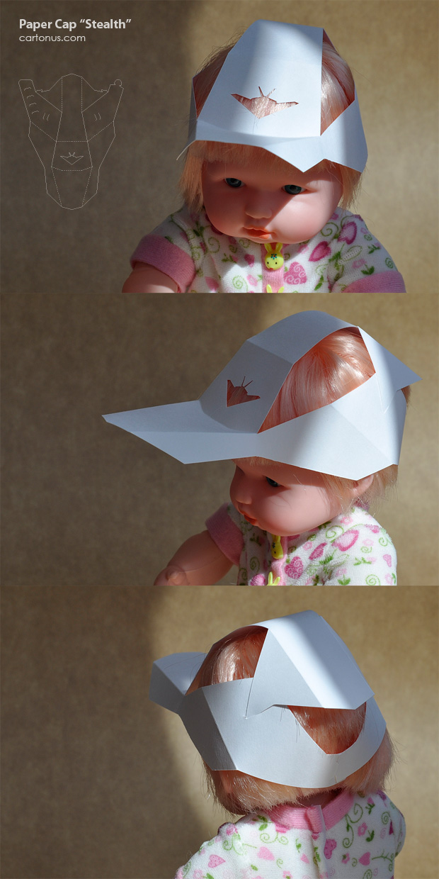 Paper Cap Stealth vector template