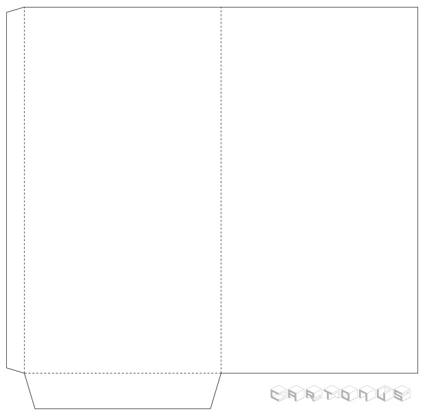Paper envelope for money 110x205