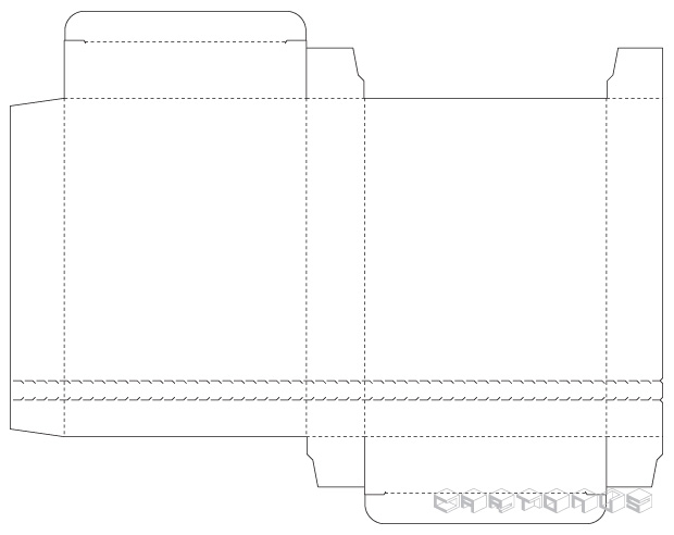Rectangular carton 125x30x175
