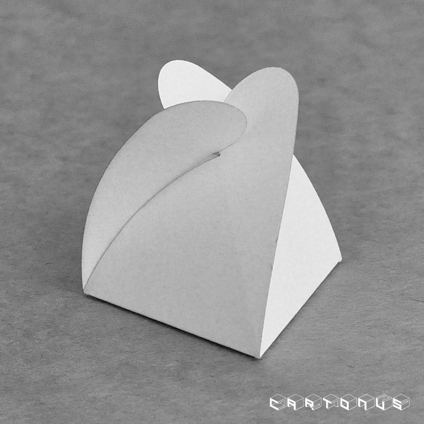 Triangular carton Star 60x60x60. Gift white box. Folding carton template