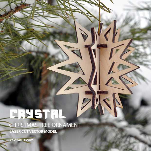 Download FREE Christmas tree ornament - Crystal