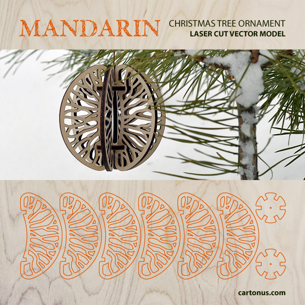 Download FREE Christmas tree ornament - Mandarin. Decorate your home with lovely unique Christmas decorations