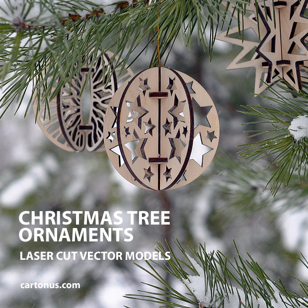 Christmas Tree Ornaments Cartonus
