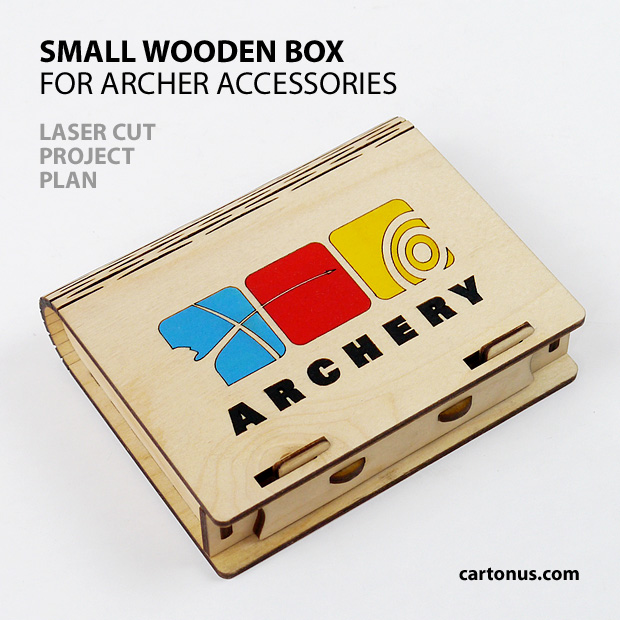 Wooden small box for archer accessories