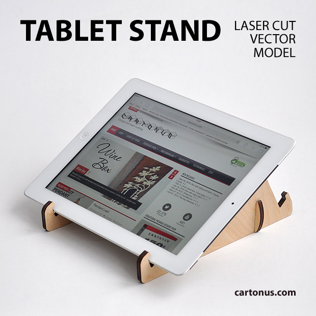 Tablet stand project plan 2. Ready for laser cutting