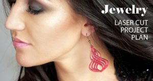 Jewelry, earrings, brooches, culones laser cut free project plan