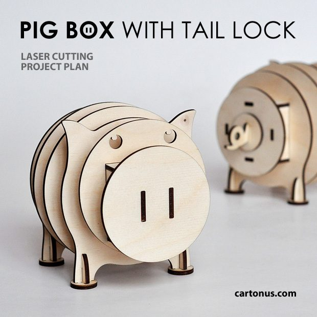 Pig box with tail lock