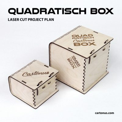 Quadratisch box with sliding bolt latch spring loaded. 2 boxes