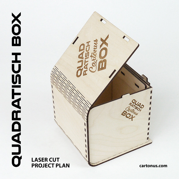 Quadratisch box with sliding bolt latch spring loaded. Open box