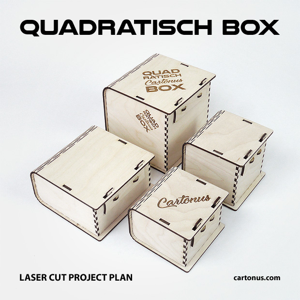 Quadratisch box with sliding bolt latch spring loaded. Set of 4 patterns