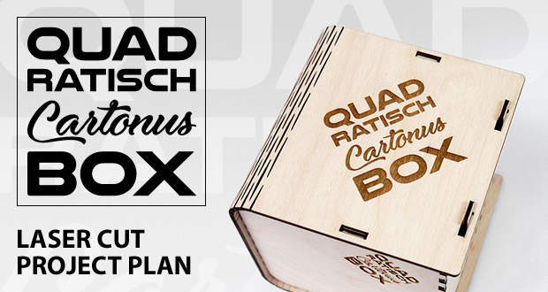 Quadratisch box with sliding bolt latch spring loaded