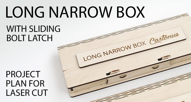 Long narrow box with sliding bolt latch spring loaded