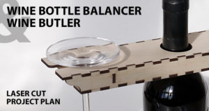 Wine bottle balancer - Wine butler. Lasercut vector model. Project plan for laser cutting. Featured