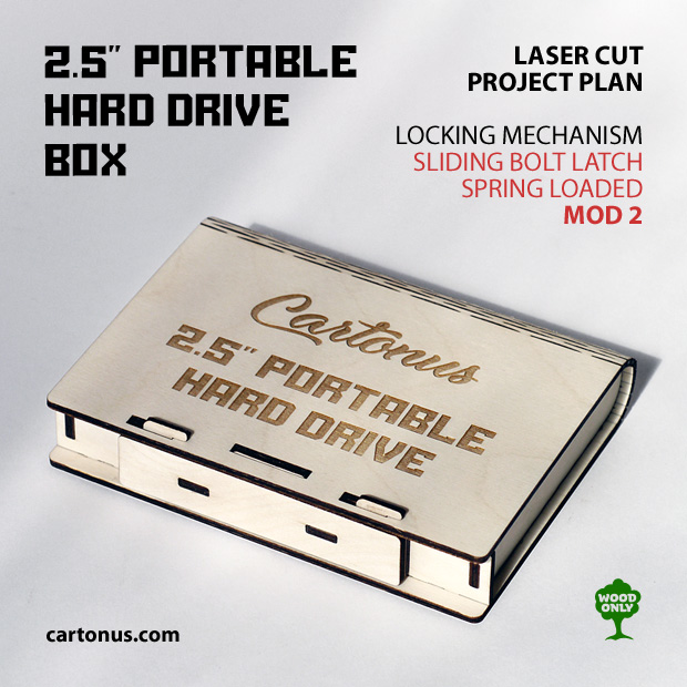 Portable hard drive box. Project plan for laser cutting