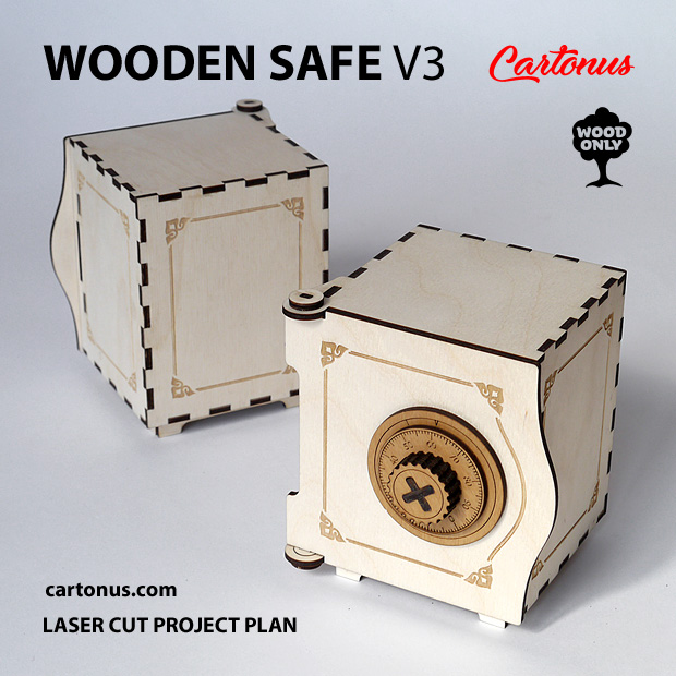 Wooden small safe - best gift for friends. A good business idea. Unusual, interesting and useful!