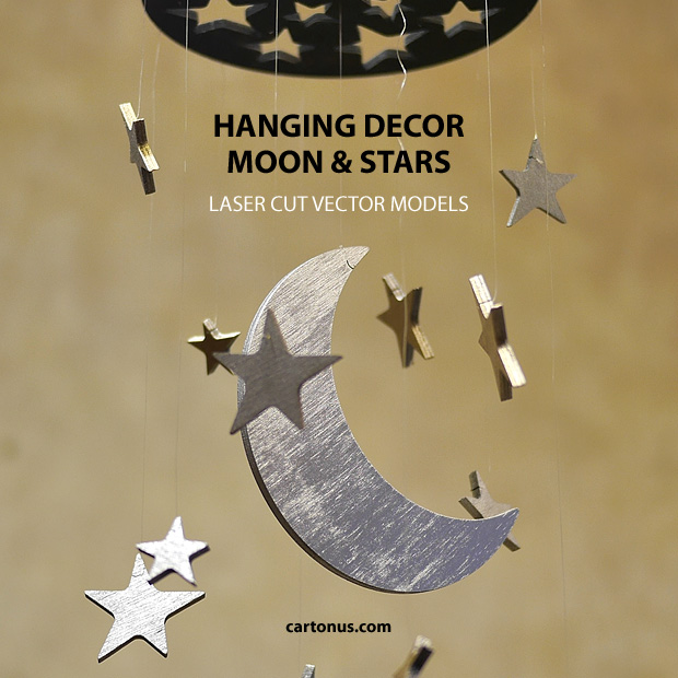 hanging decor moon and stars