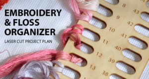 Embroidery thread and floss organizer